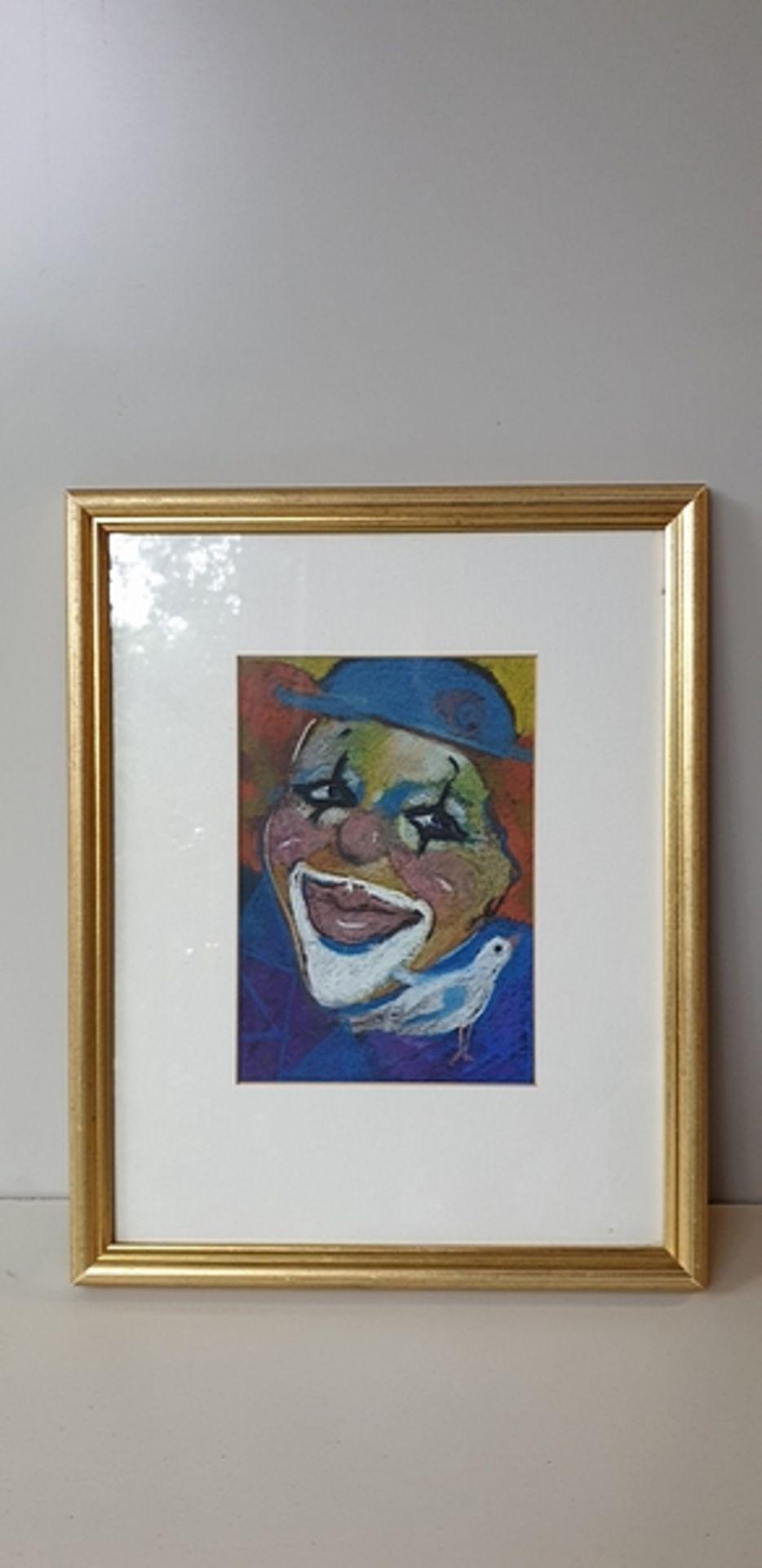 Lot 275 - Framed Drawing Prague Clown