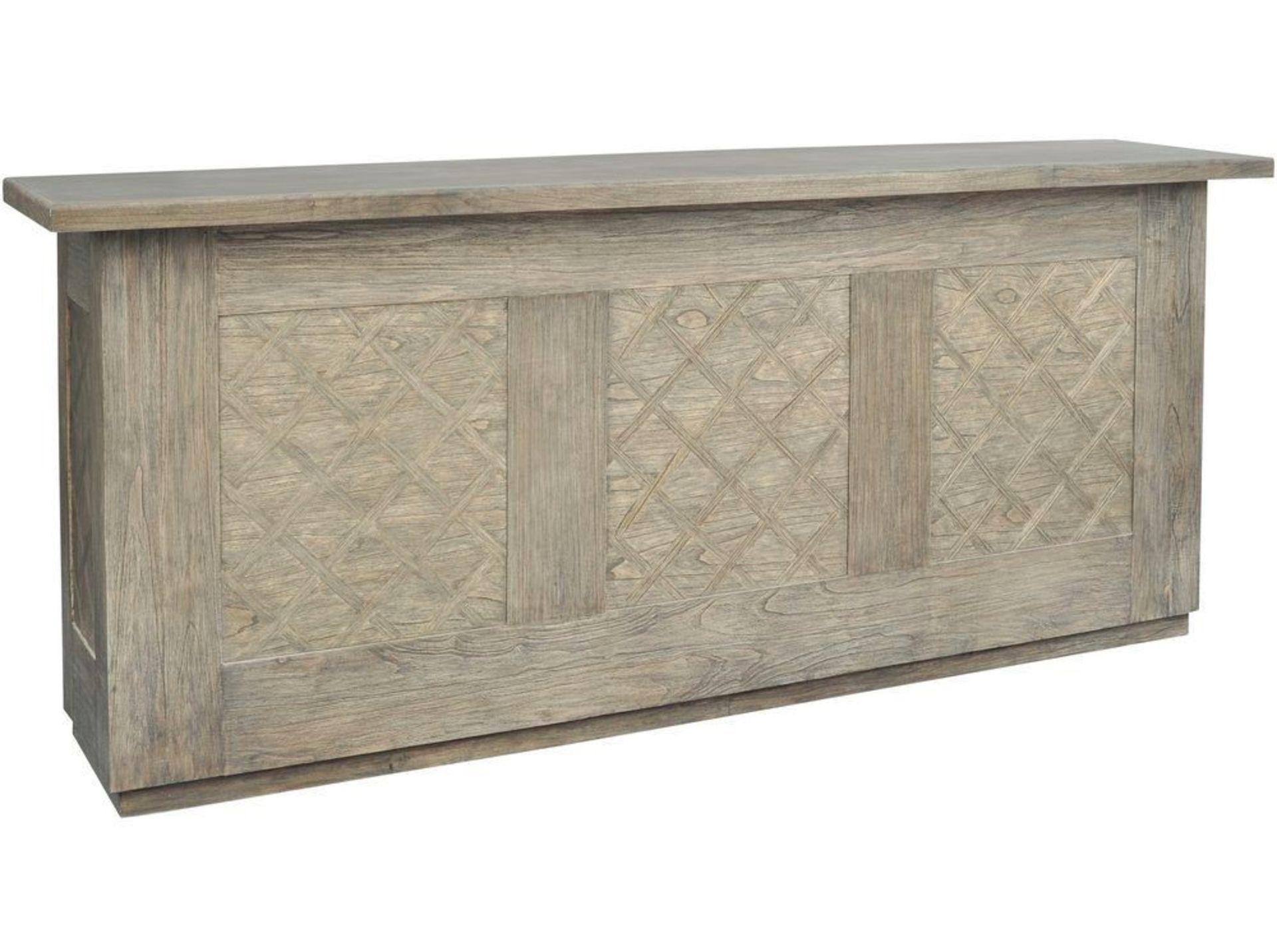 Lot 1074 - Fairmont Washed Wood Freestanding Bar