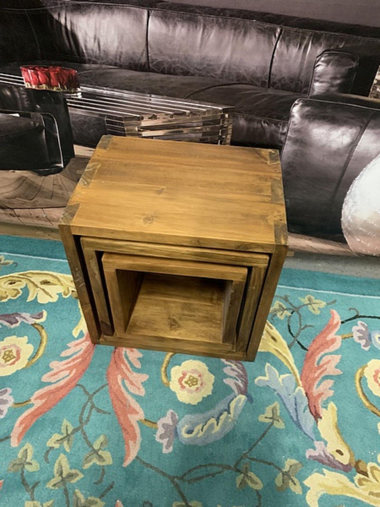 Lot 620 - Set Of Three Interlocking Box Tables