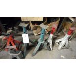 6 ASSORTED JACK STANDS (LOT)