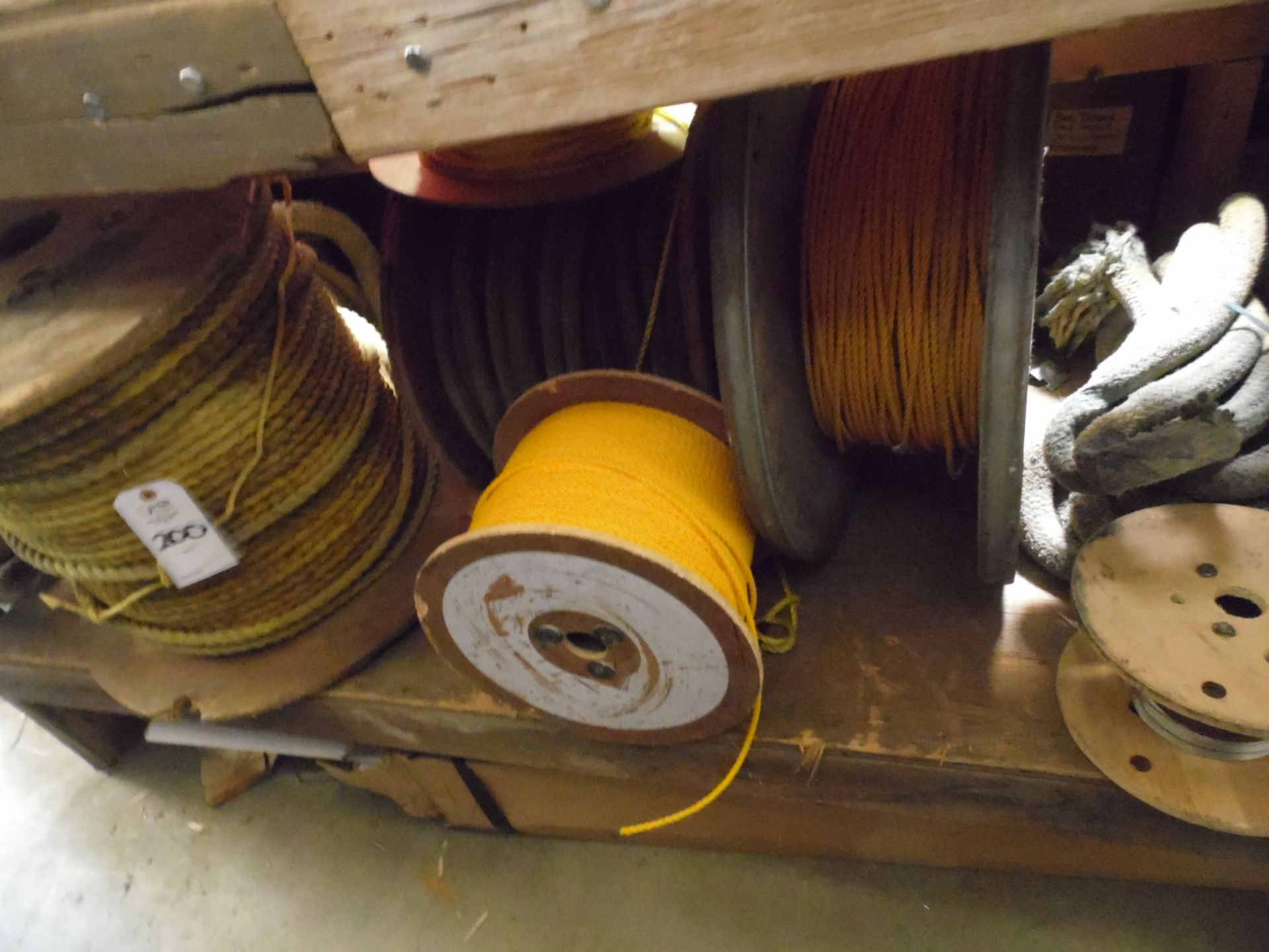 Lot 200 - ASSORTED SPOOLS OF ROPE