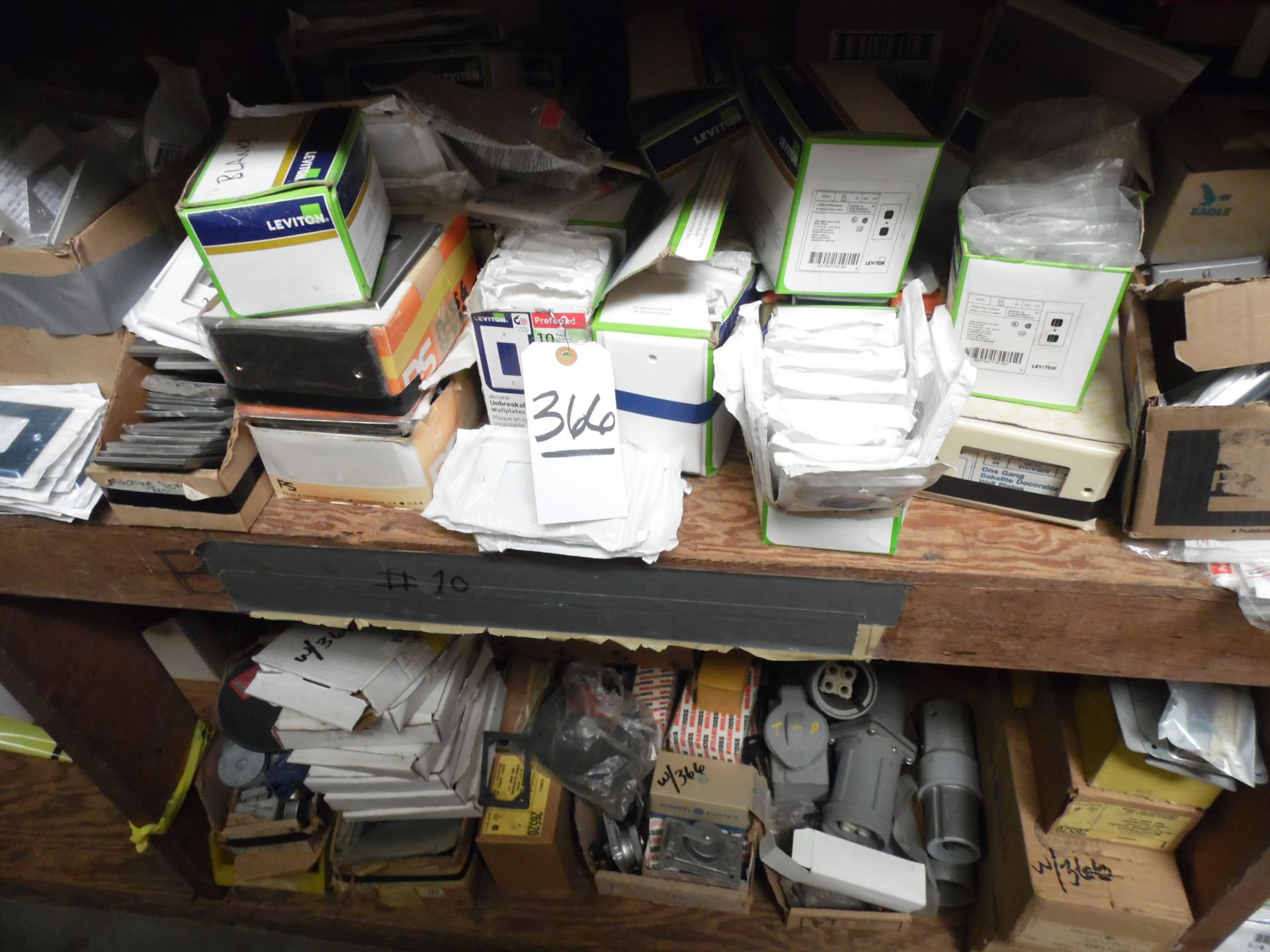 Lot 366 - ASSORTED WALL PLATES / OUTLETS, RECEPTACLES
