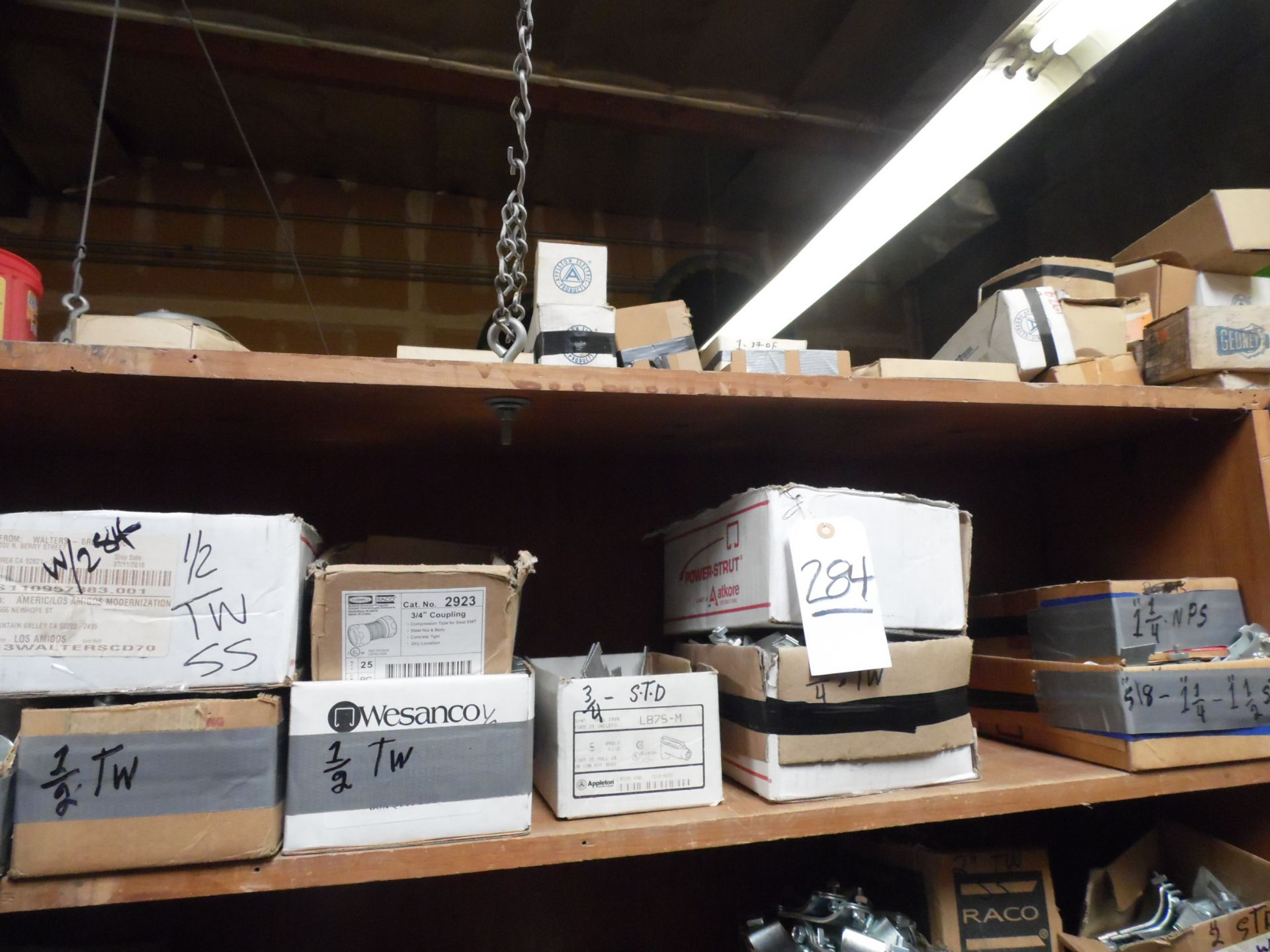 Lot 284 - ASSORTED COUPLINGS, ANCHORS, FASTENERS