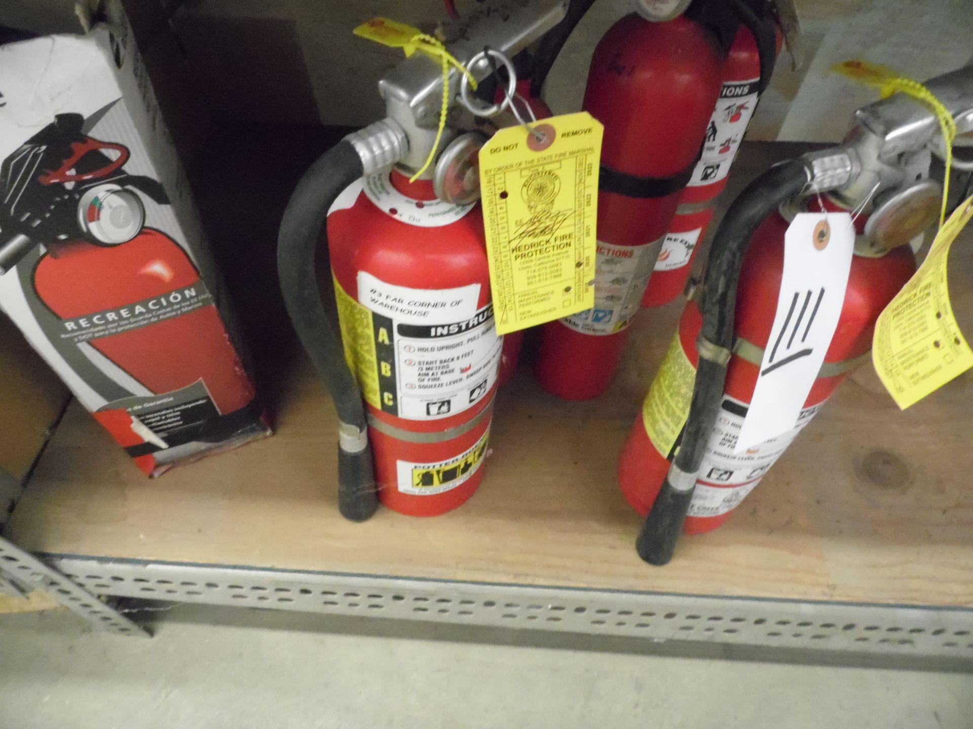 Lot 111 - FIRE EXTINGUISHERS