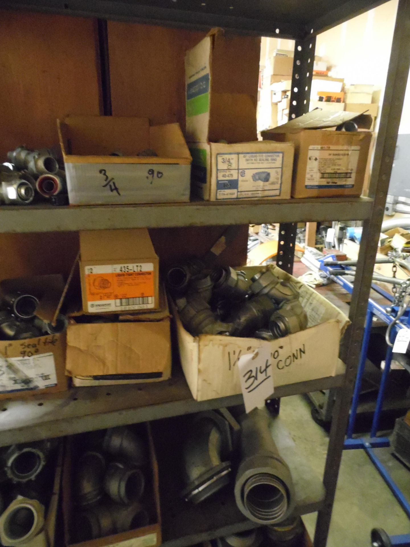 Lot 314 - ASSORTED FITTINGS, CONNECTOR w/ RACK