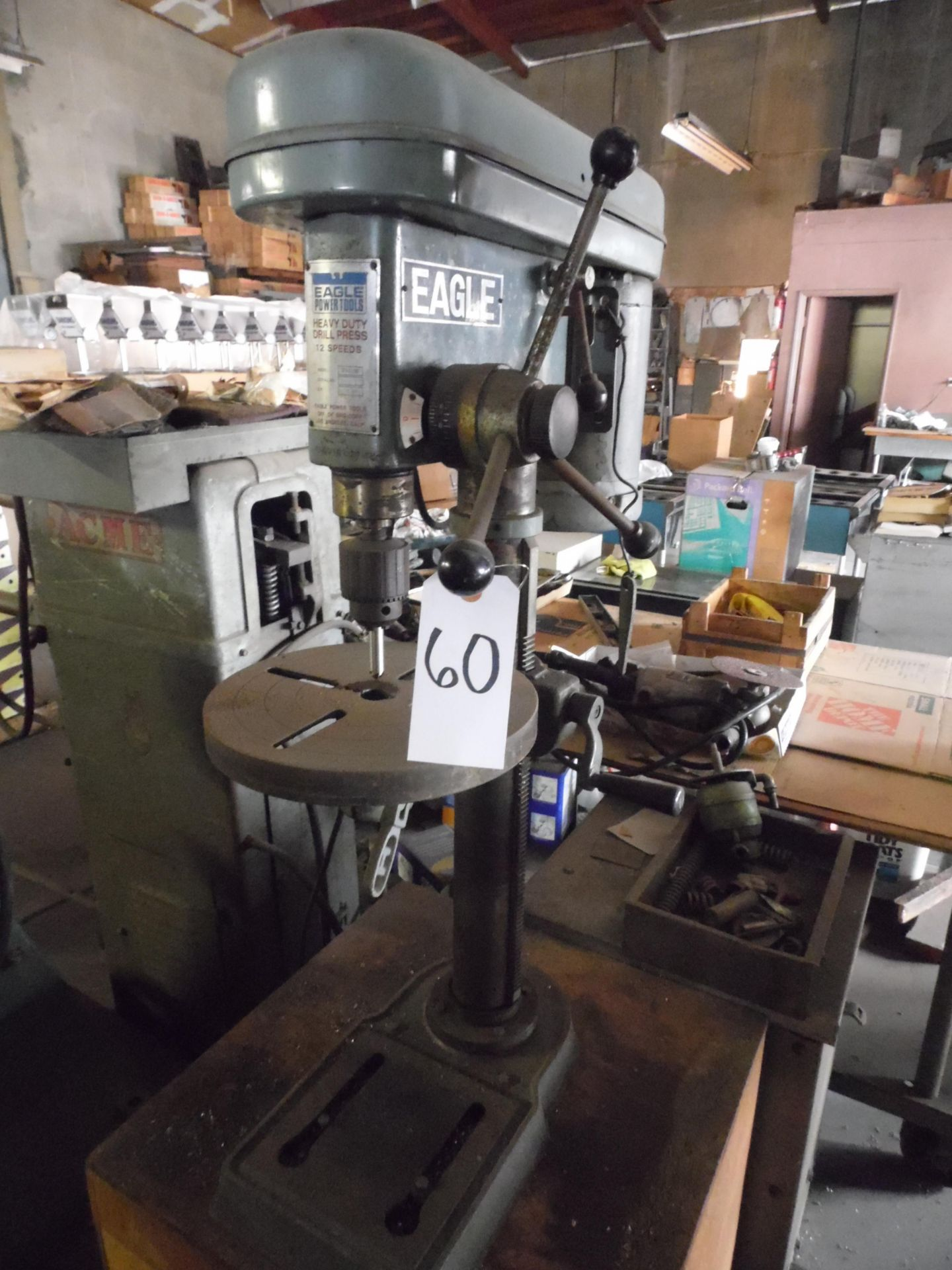 Lot 60 - EAGLE 12 SPEED TABLE TOP DRILL PRESS