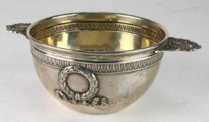 SilberschaleFrankreich, 19. Jahrhundert. Klassizistisch gestaltetes Schälchen. Innen ausvergoldet.
