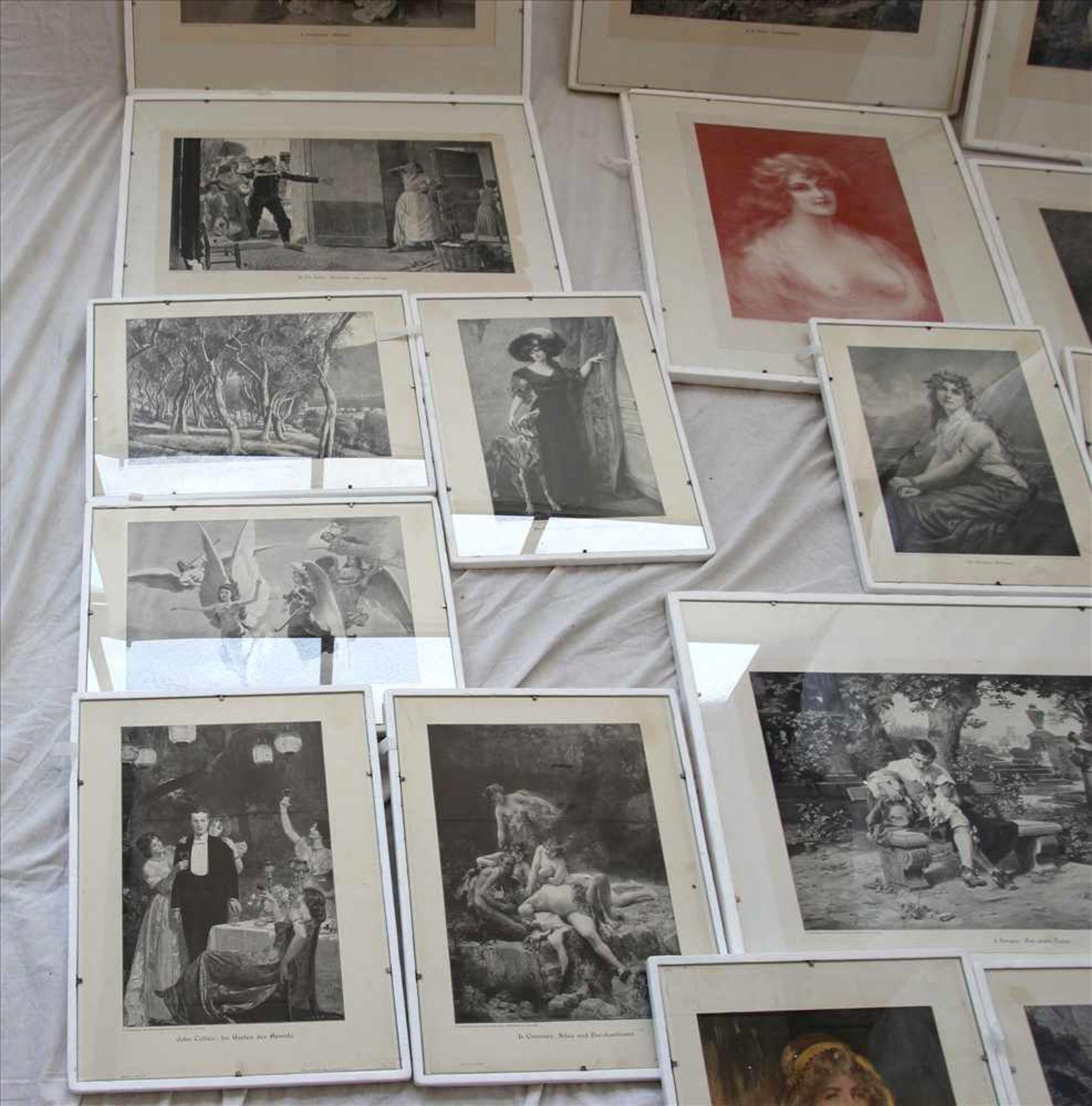 Los 56 - Konvolut KunstblätterFormat bis ca. 49 x 59 cm. Bitte selbst besichtigen.