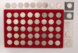 Konvolut Münzen54 diverse 5-DM Münzen. Zustand wie abgebildet.