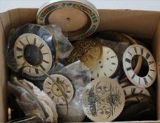 Konvolut UhrenteileZiffernkreise, teils 19. Jh. etc. Zustand wie abgebildet. Bitte selbst