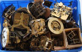 Konvolut Uhrenteilemeist Uhrwerke für Regulatoren, teils 19. Jh. etc. Zustand wie abgebildet.