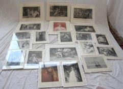 Konvolut KunstblätterFormat bis ca. 49 x 59 cm. Bitte selbst besichtigen.
