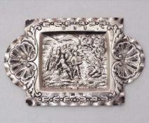 ZiertablettBarock, Schweden um 1770. Silber mit diversen Punzen und späteren deutschen