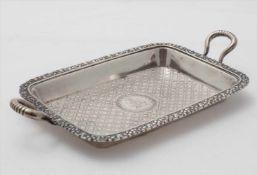 ButterschaleDeutsch um 1897. Silber 925. Flachgemuldeter Korpus mit reichem Dekor im Empirestil