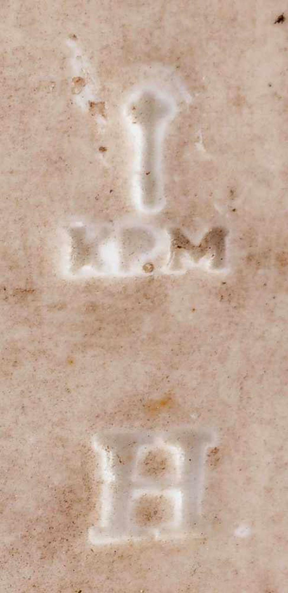 KPM BildplatteBerlin 19. Jh. Porzellanbild mit der Ansicht der alten Wartburg. Königliche - Bild 3 aus 5