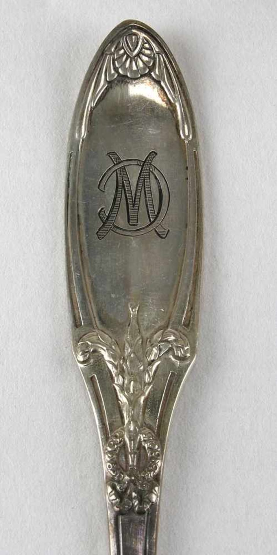 Speisebesteck für sechs PersonenDeutsch um 1900. Silber 800 punziert, Halbmond, Krone und - Bild 4 aus 6