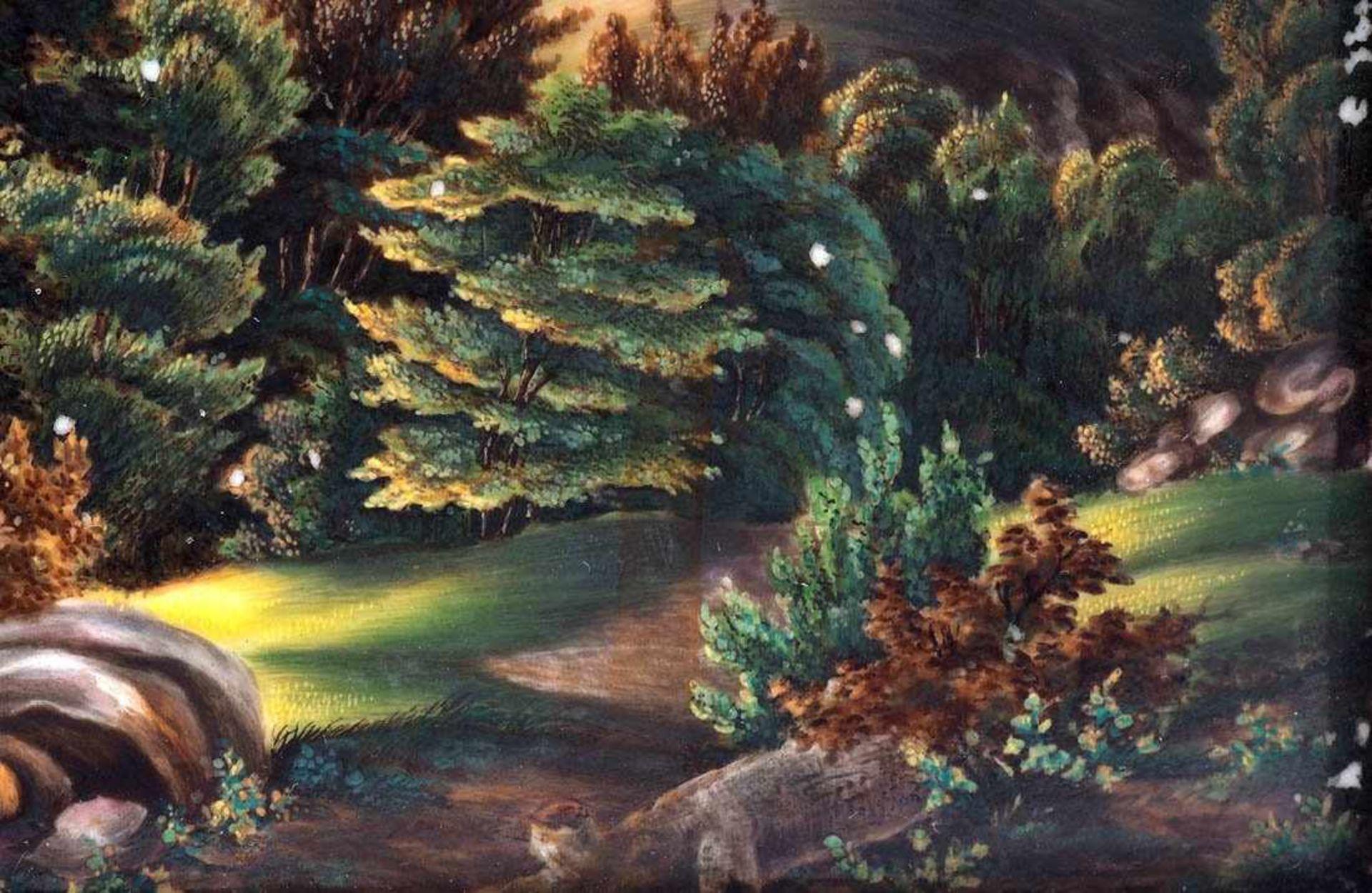 KPM BildplatteBerlin 19. Jh. Porzellanbild mit der Ansicht der alten Wartburg. Königliche - Bild 5 aus 5