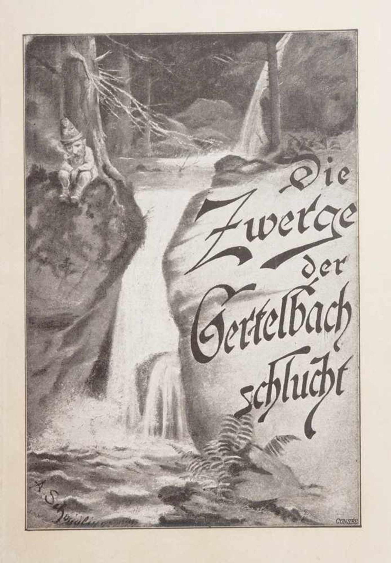 Schmidlin, Adolf1868 Lahr - 1954 Freiburg. Die Zwerge der Gertelbachschlucht, Lahr 1897 mit - Bild 3 aus 5