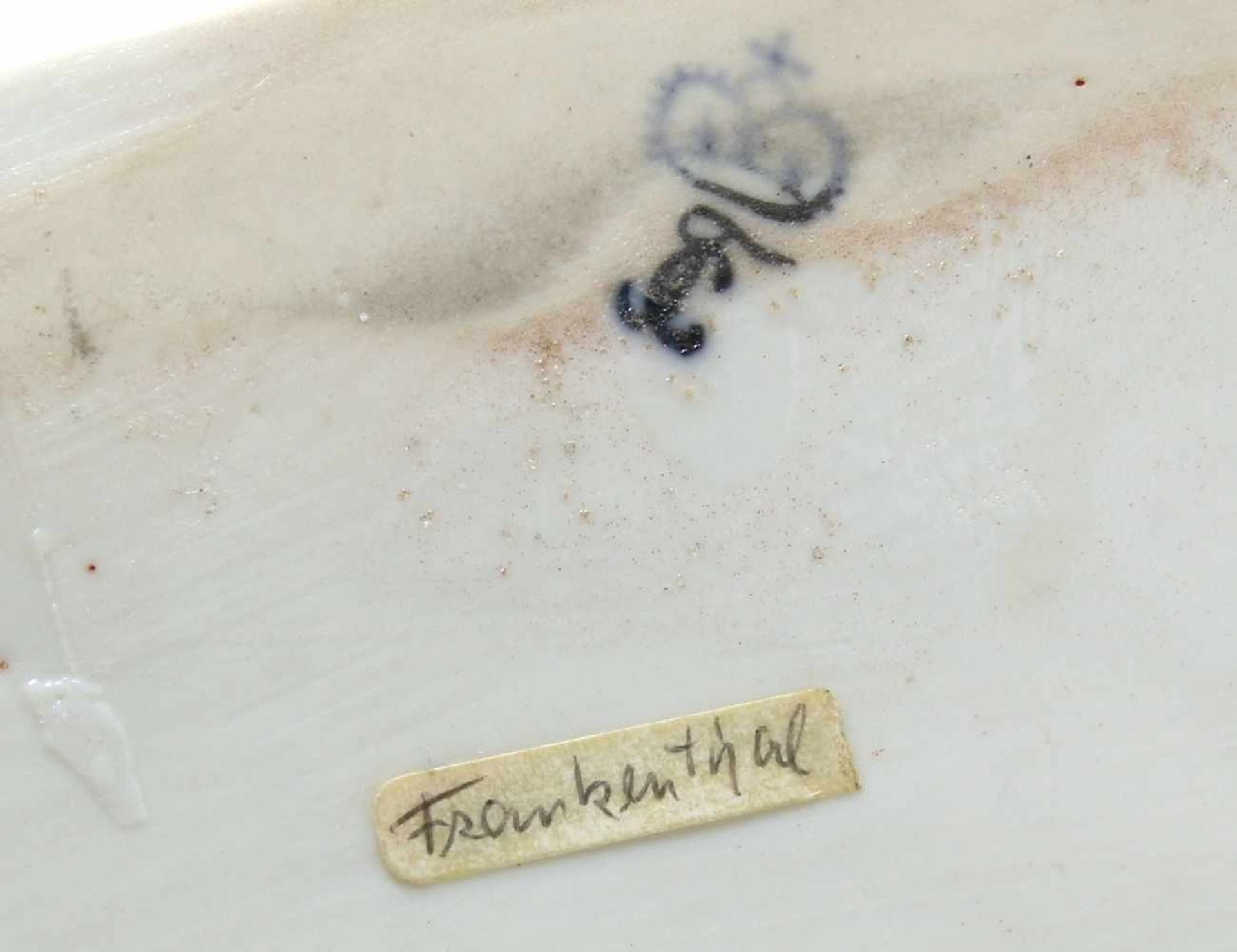 FigurengruppeFrankenthal 18. Jh. Kavalier mit Dame im Krinolinenrock. Porzellan mit aufbossierten - Bild 10 aus 10