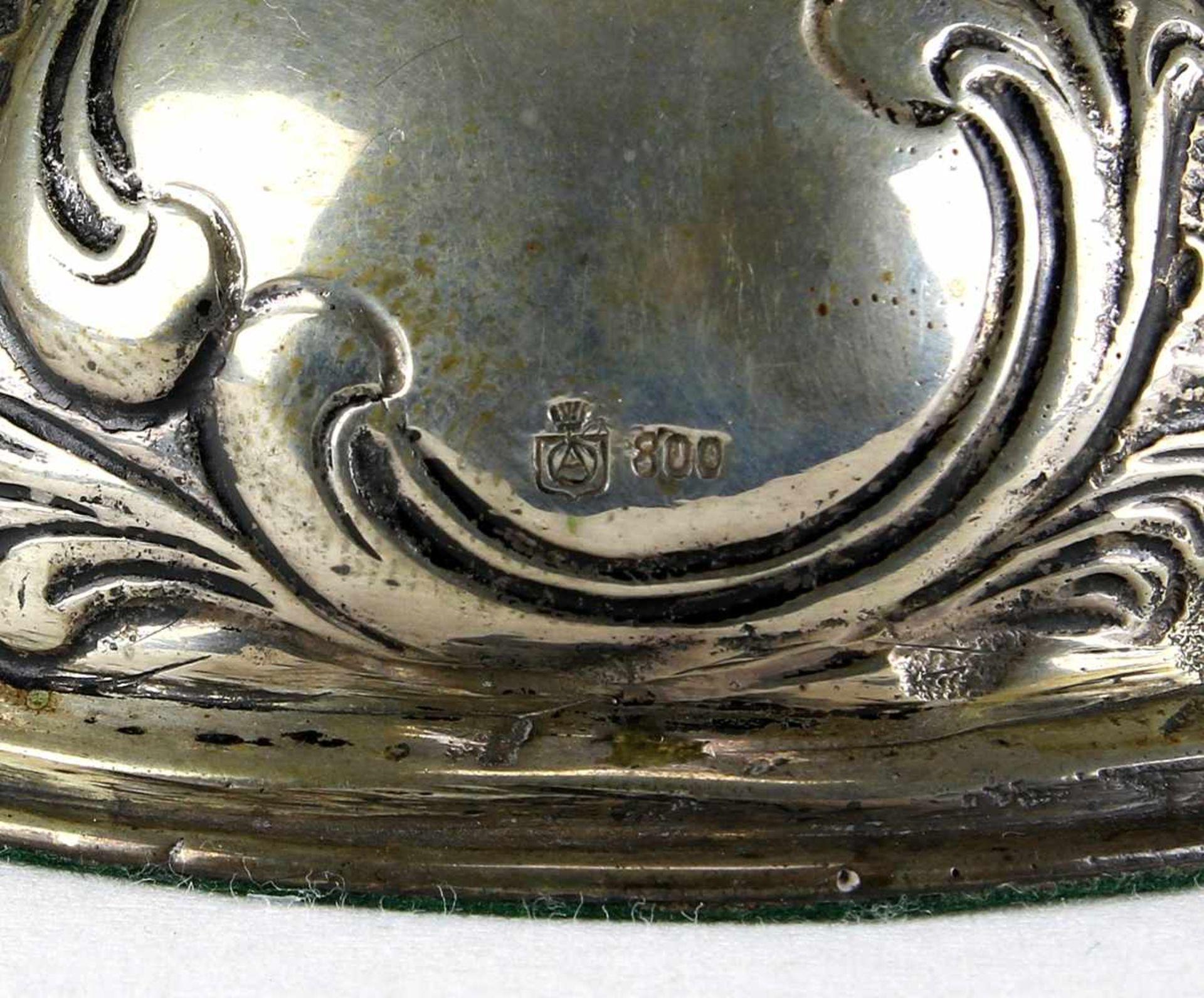 Paar SilberleuchterDeutsch um 1900. Silber 800 punziert und ungedeutete Herstellermarke. - Bild 4 aus 4