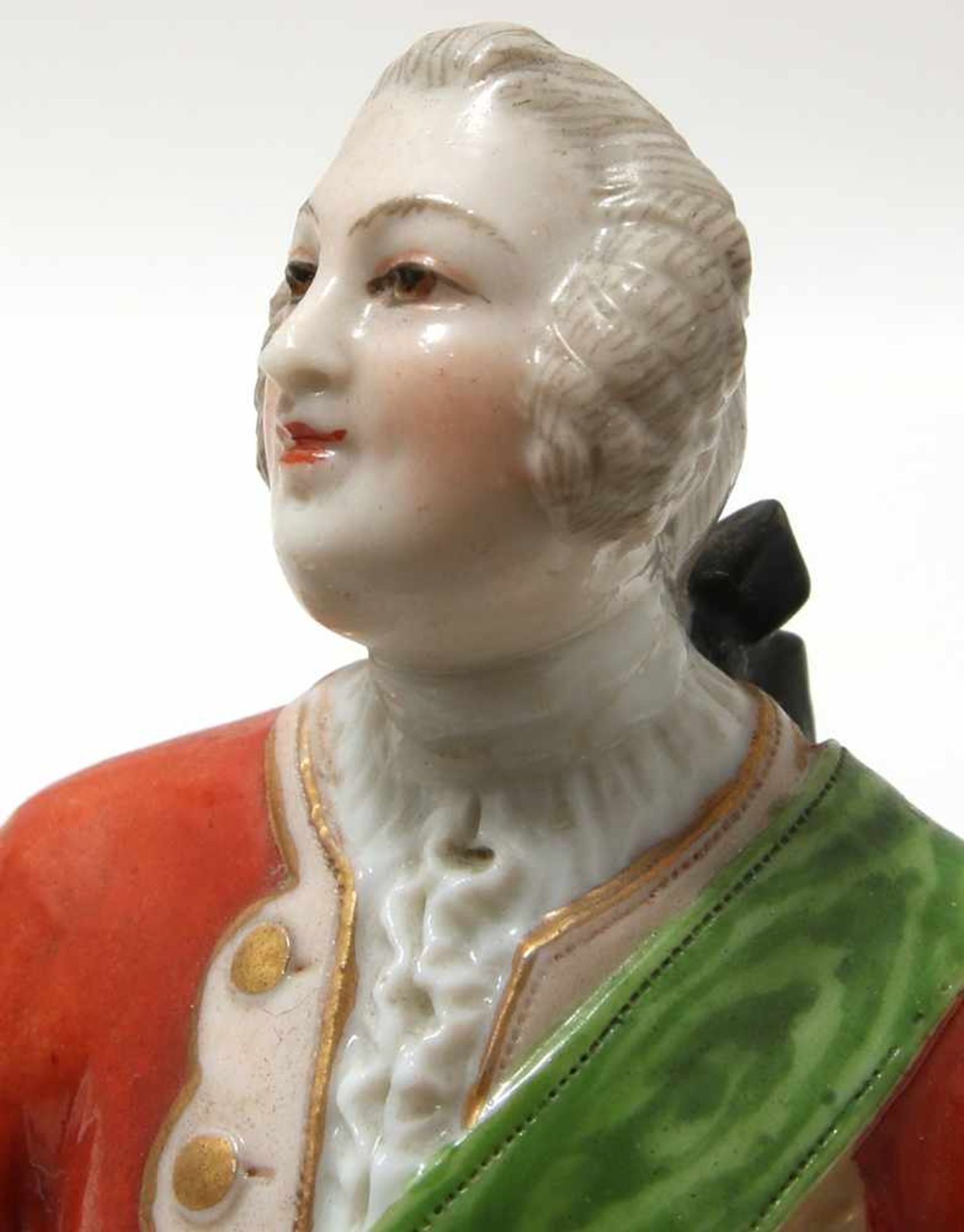 FigurengruppeFrankenthal 18. Jh. Kavalier mit Dame im Krinolinenrock. Porzellan mit aufbossierten - Bild 7 aus 10