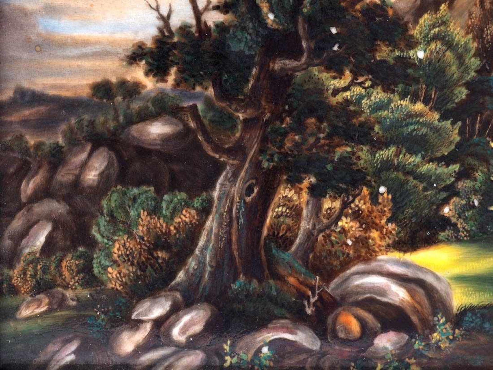 KPM BildplatteBerlin 19. Jh. Porzellanbild mit der Ansicht der alten Wartburg. Königliche - Bild 4 aus 5