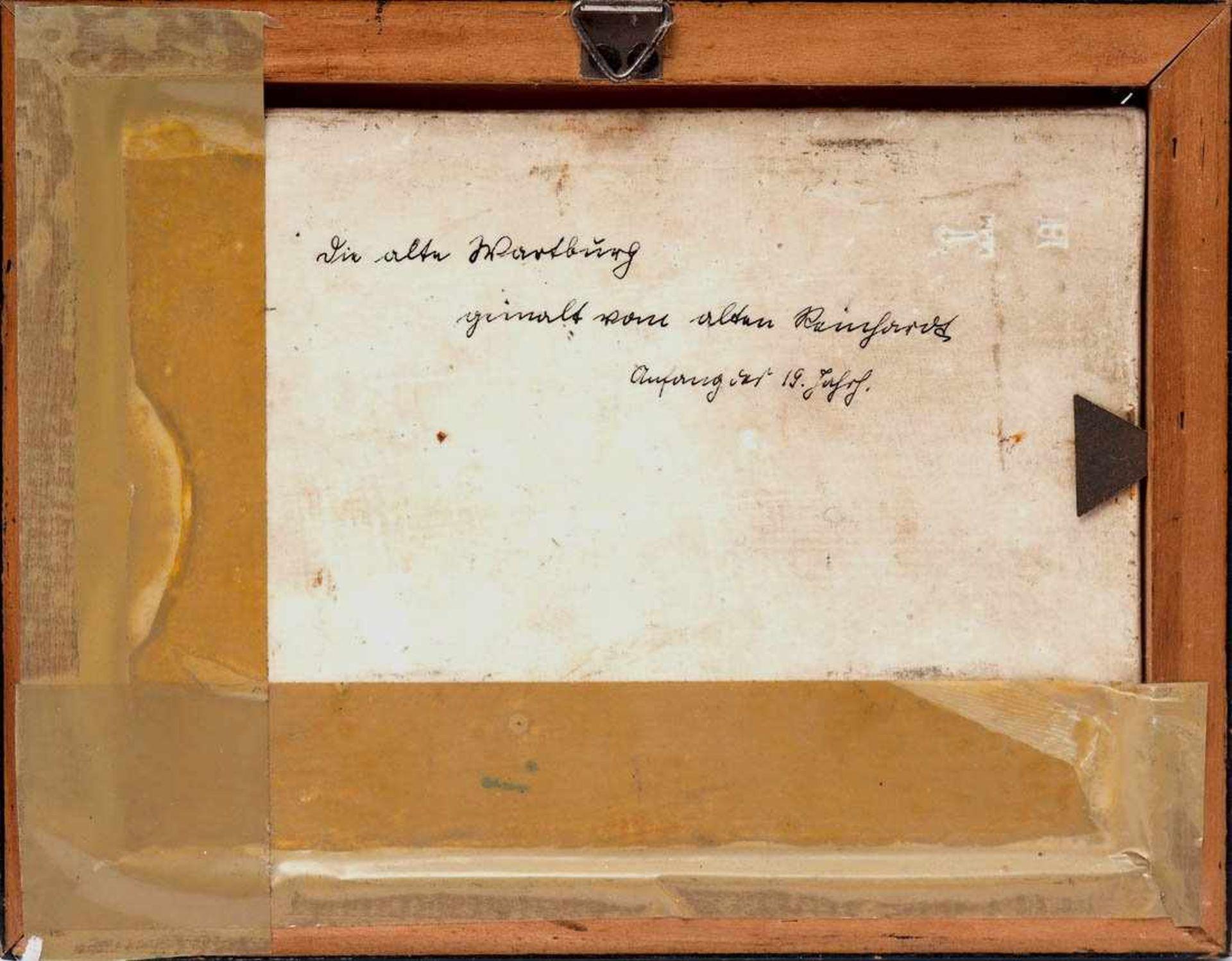 KPM BildplatteBerlin 19. Jh. Porzellanbild mit der Ansicht der alten Wartburg. Königliche - Bild 2 aus 5