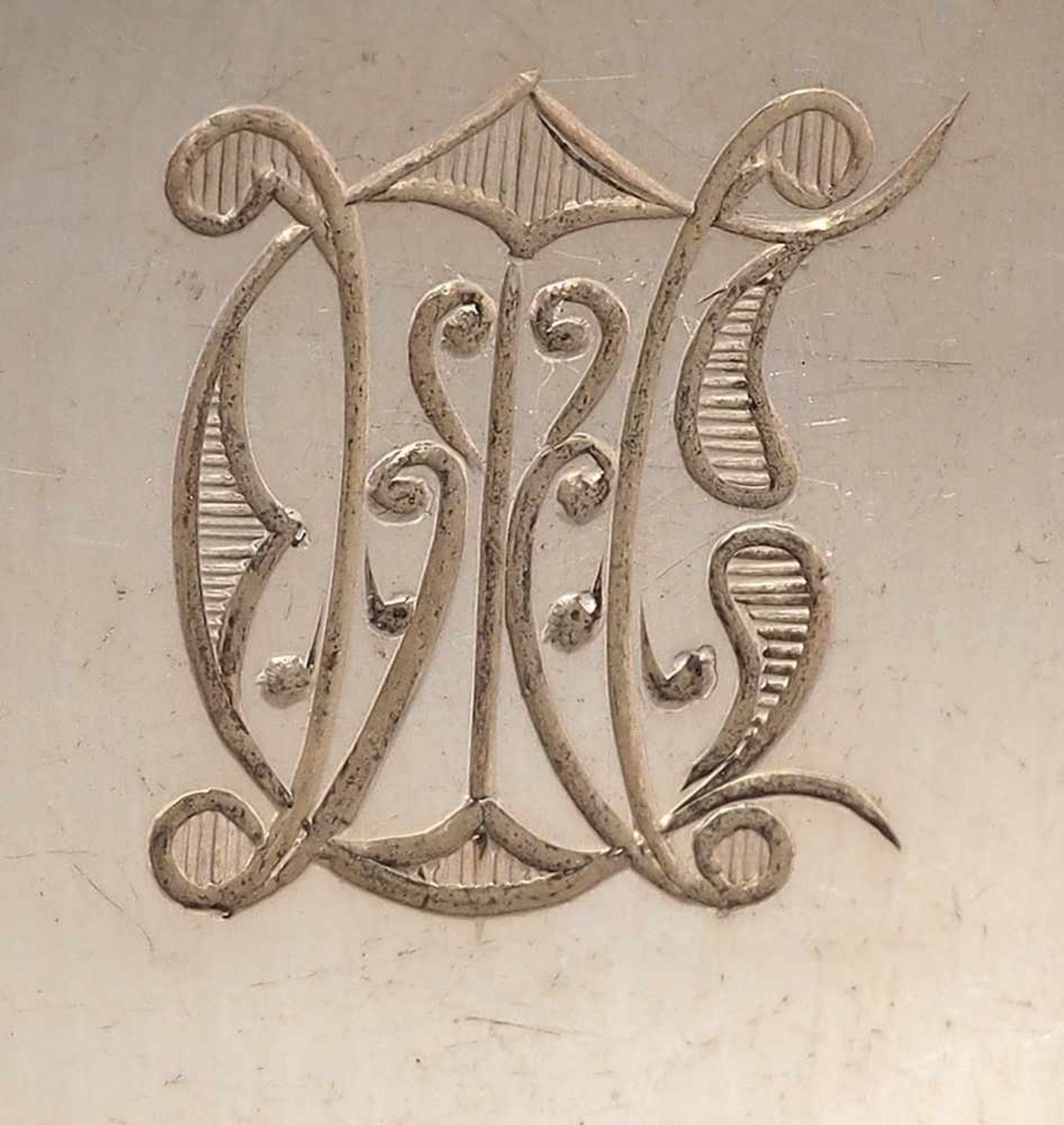 Sechs SuppenlöffelAugsburger Faden. Silber 800. Halbmond, Krone. Herstellermarke Vereinigte - Bild 2 aus 3