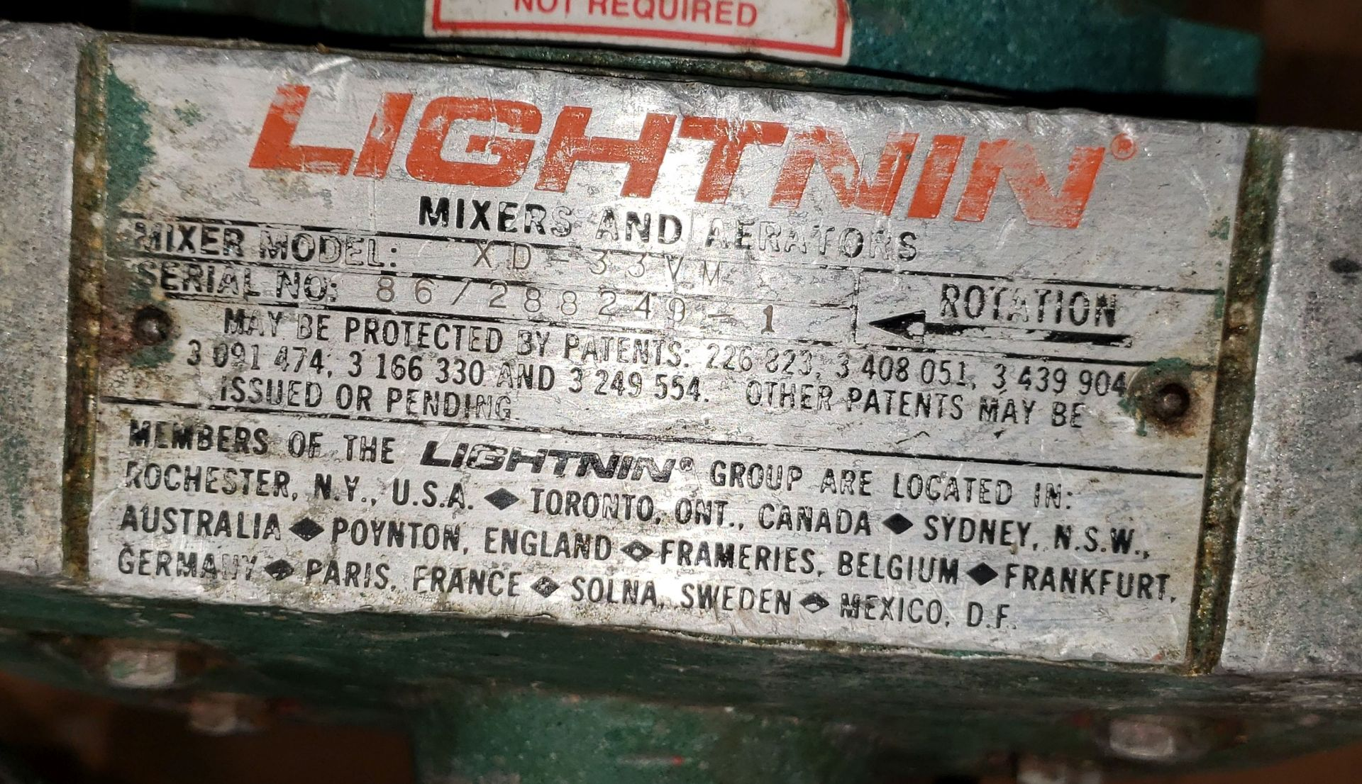 Lot 8 - Lightnin Mixer Model Vari-Mix Variable speed mixer