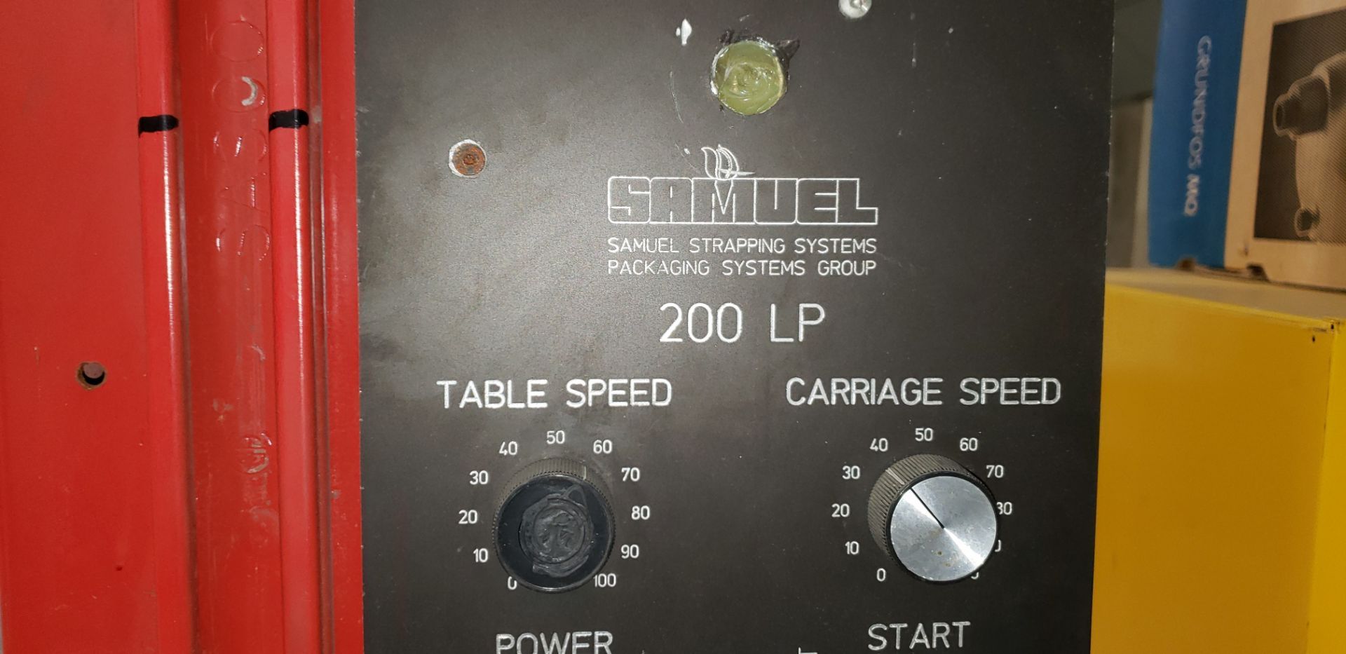 """Lot 39 - SAMUEL STRAPPING SYSTEM STRETCH WRAPPER 120V 60"""" LOW RISE TURNTABLE"""