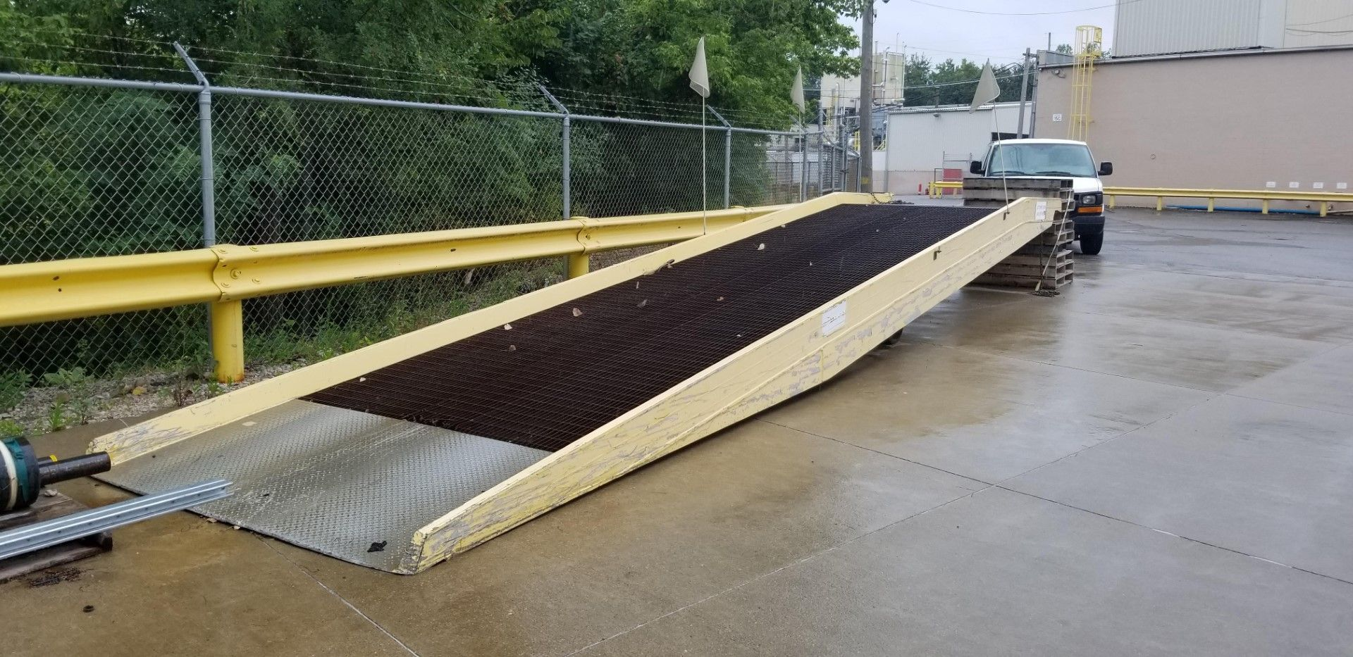 Lot 57 - Heavy Duty Mobile Steel Yard Ramp - 20,000lbs Capacity.