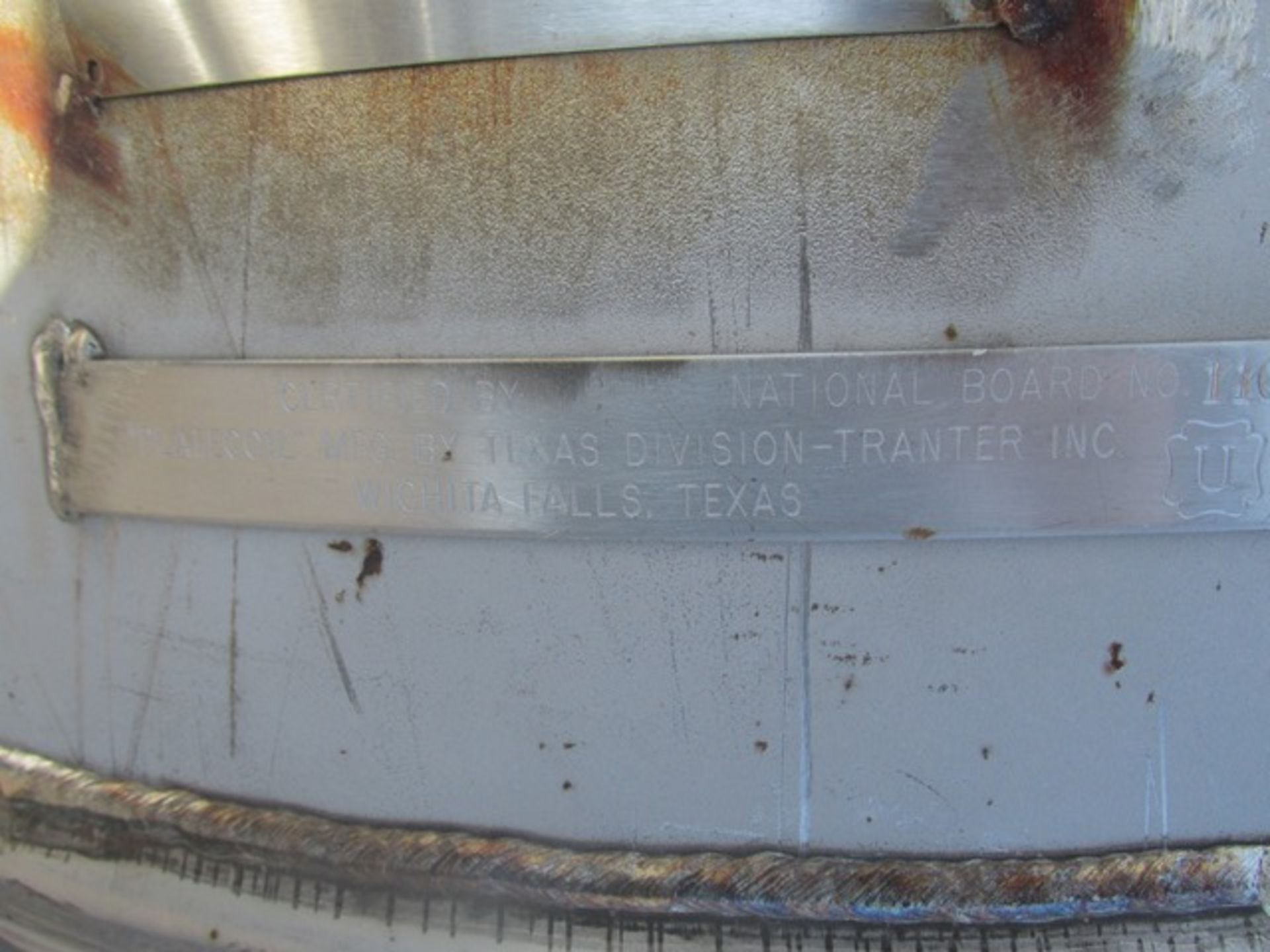 Lot 44 - 180 Gal Tolan Reactor Body, 304 S/S, 140/100#