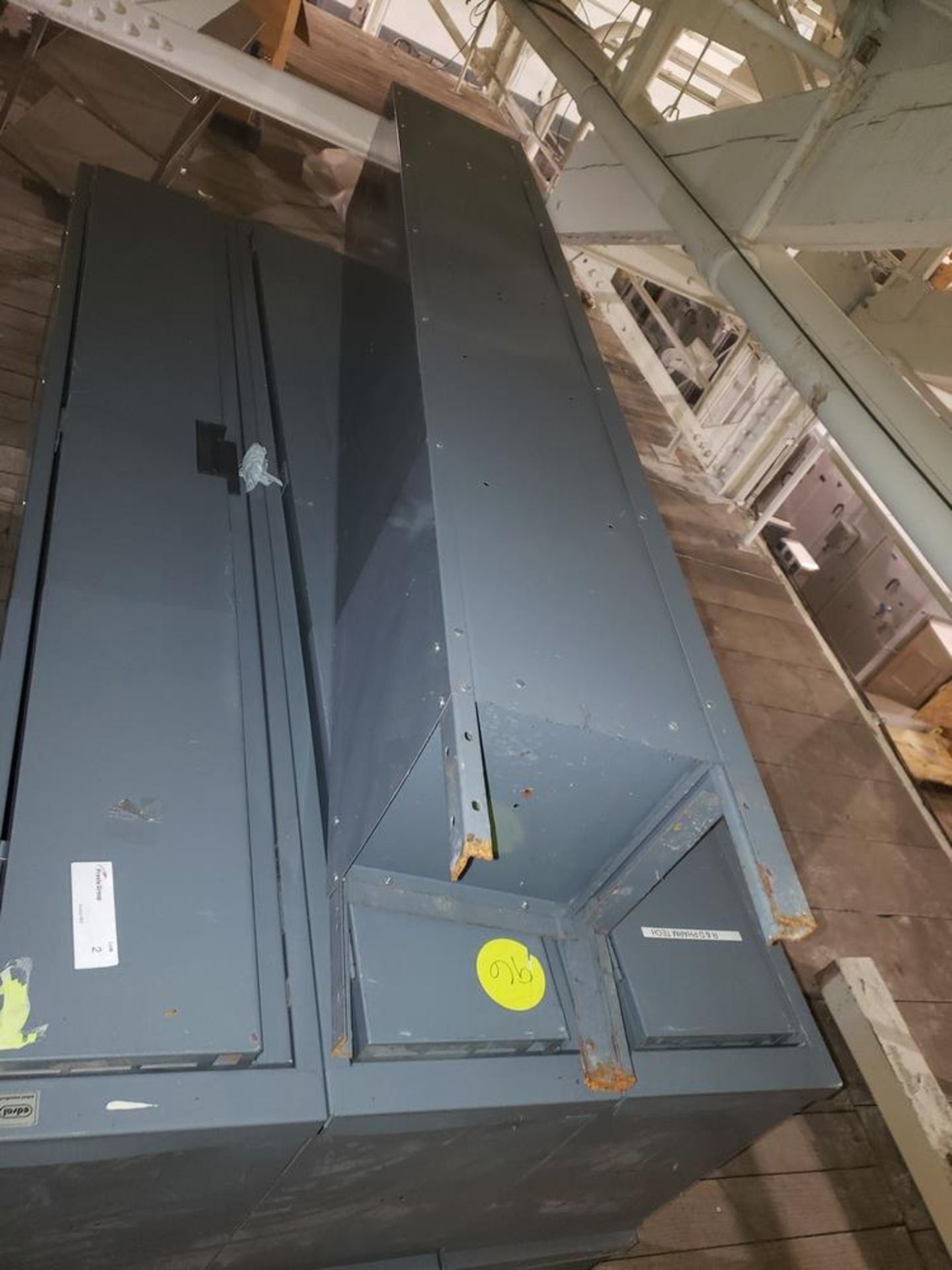 Lot 2 - (2) Sets of (7) doors lockers, (2) sets of 3 lockers with 1 loose