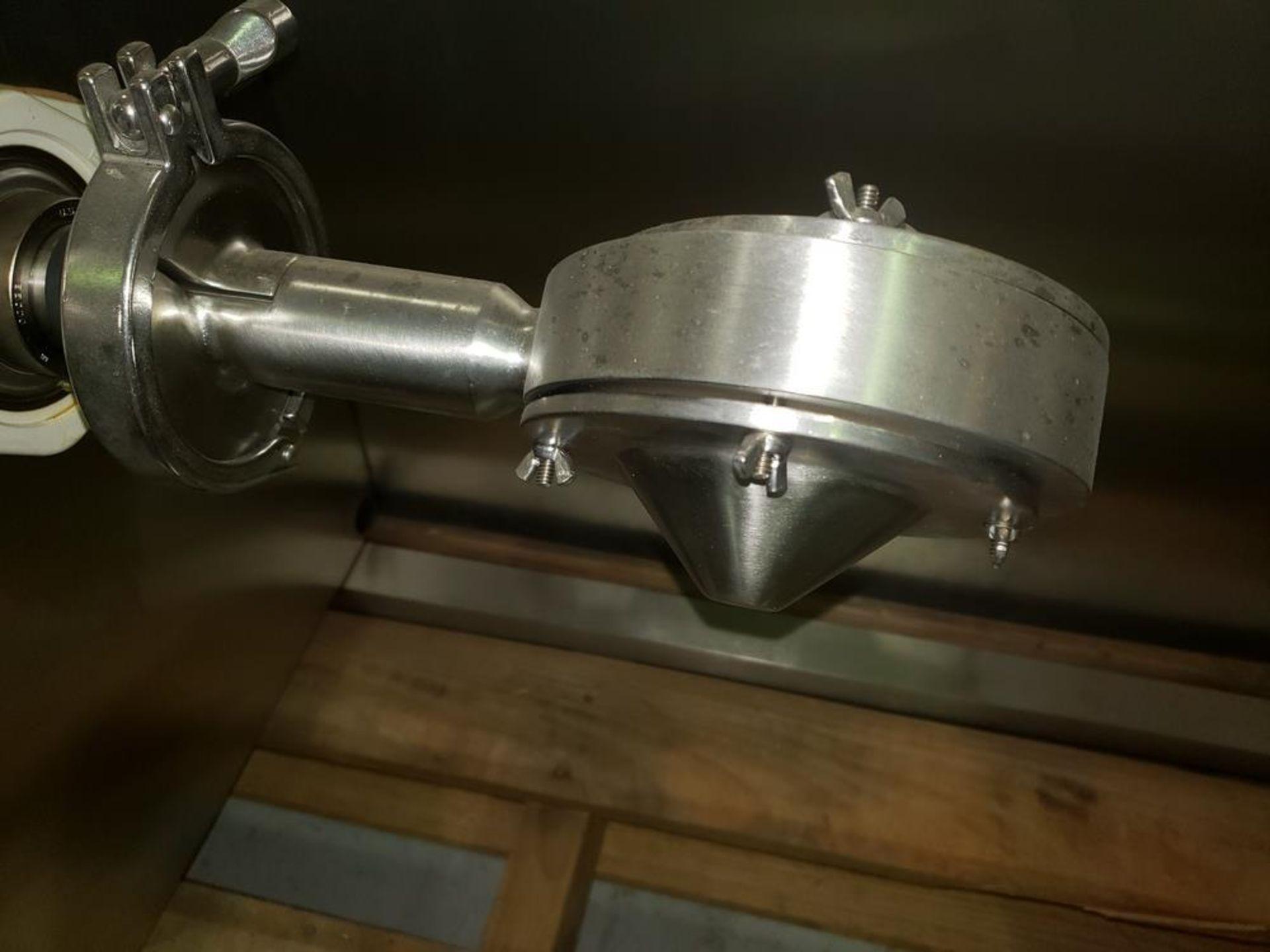 Lot 19 - .5 liter (.017 cu.ft.) Gemco slant cone blender, model GLB, stainless steel construction, bench top