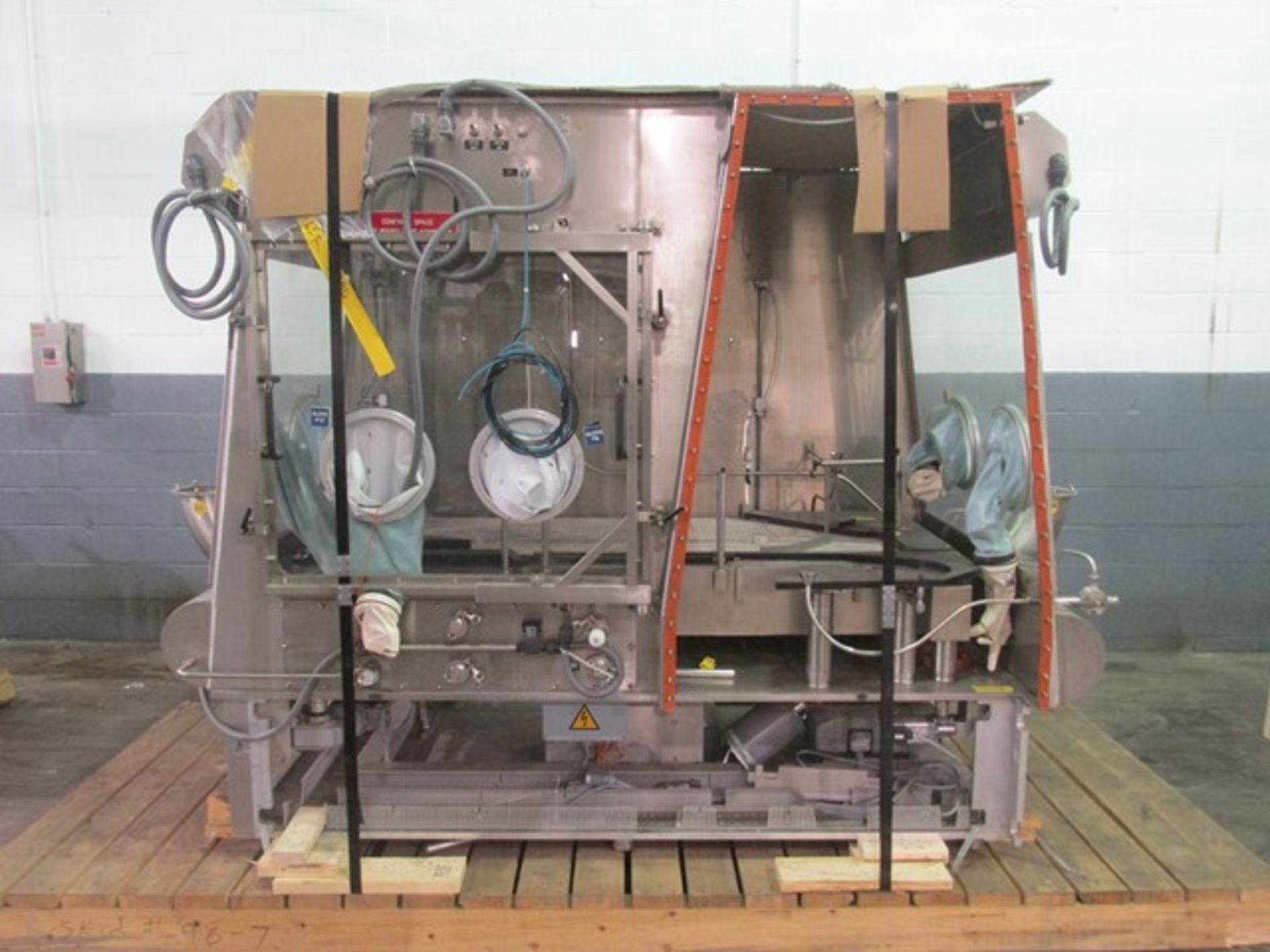 Lot 9 - Bausch+Stroebel vial filling line, with model FAW1120 rotary vial washer, serial# 50585, model