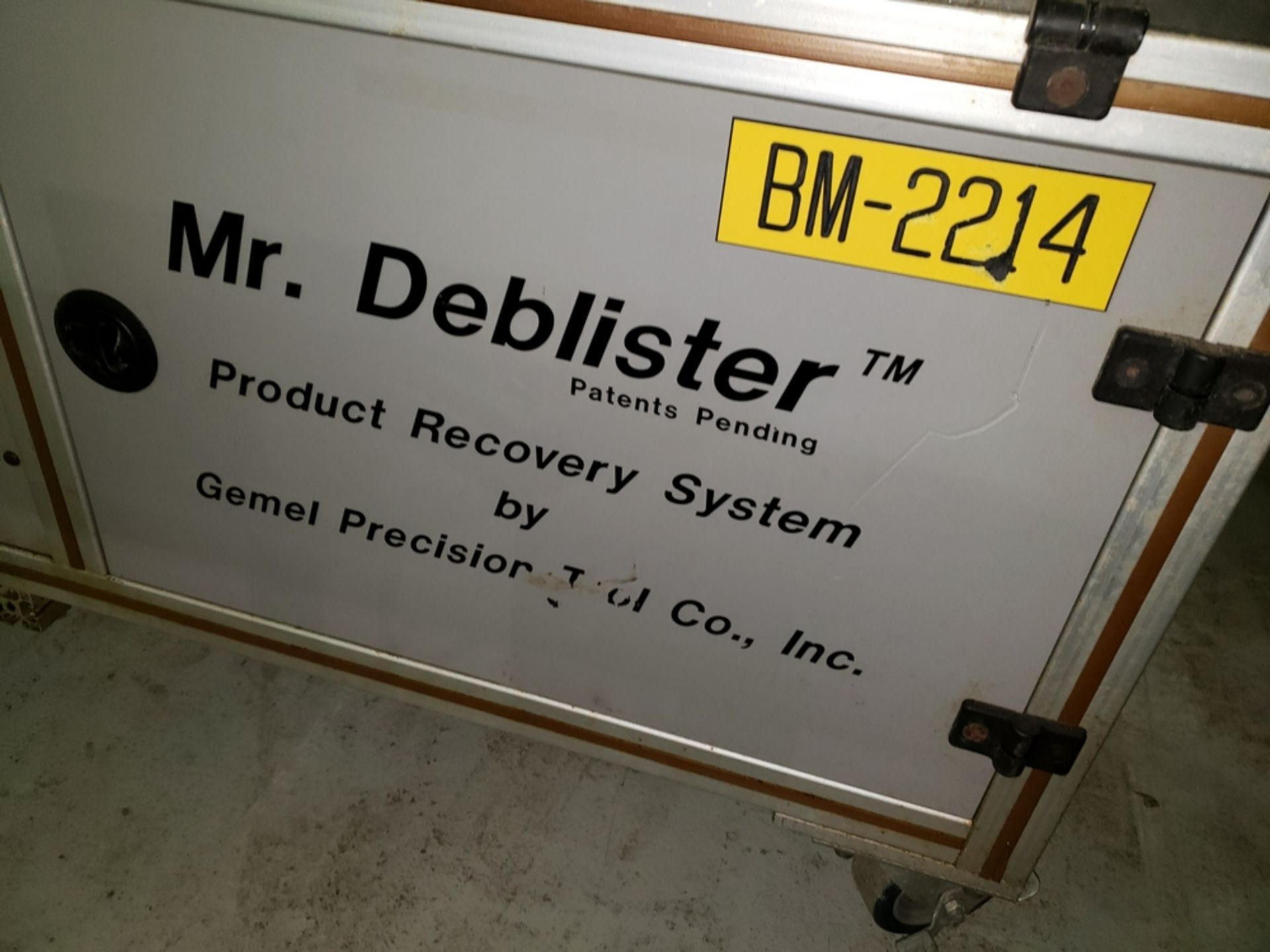 Lot 37 - Gemel Mr. Deblister machine, 30mm x 50mm min to 120mm x 145mm max format sizes, rated up to 4800/