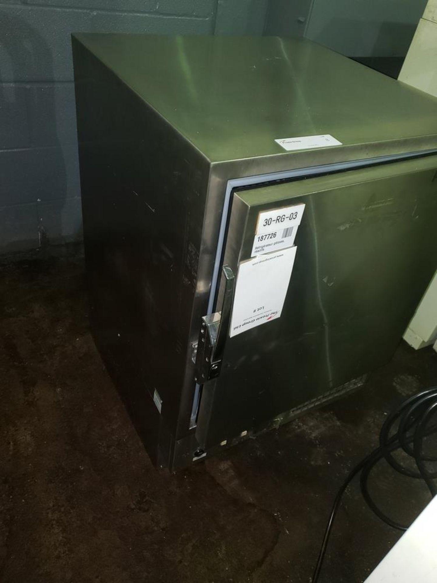 Lot 8 - Revco refrigerator/freezer, S/S interior, with 2 shelves, model REL504A14