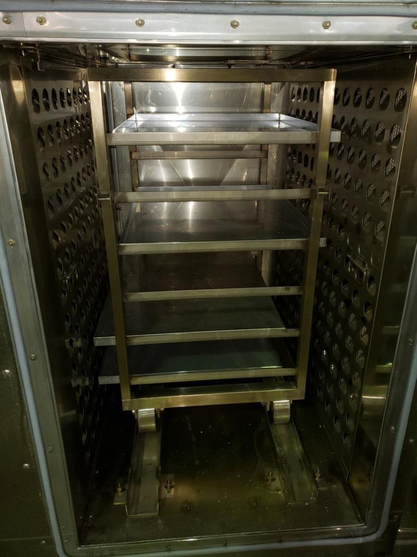 "Lot 33 - Gruenberg Pass-Thru Depyrogenation Oven, 20""W x 33""H x 26""L cart in chamber, (6) shelf, with"