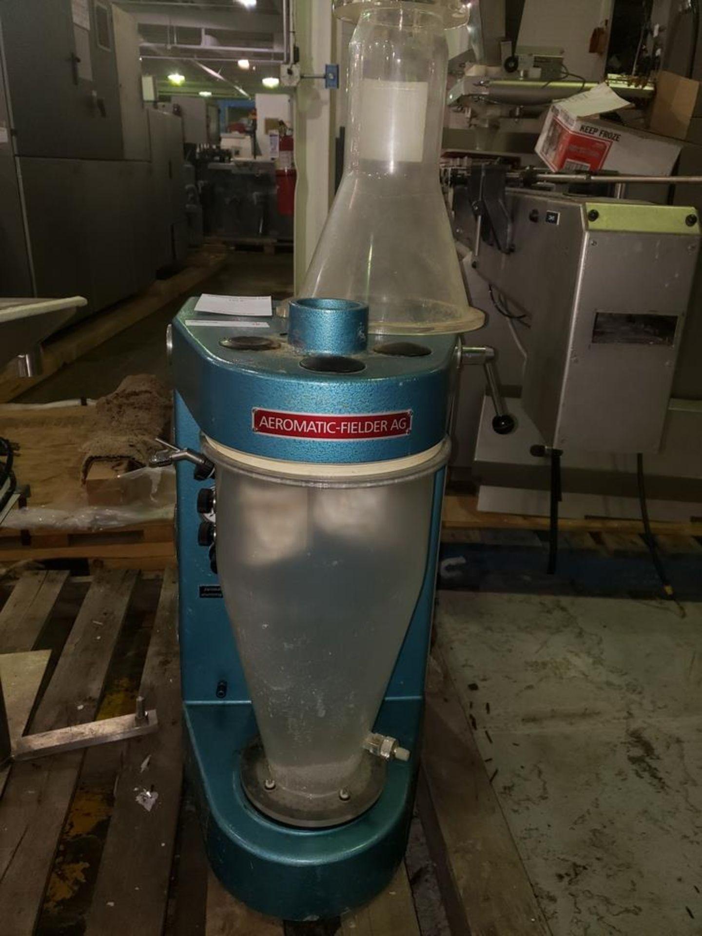 Lot 16 - Aeromatic fluid bed dryer, model STREA1, with (2) plastic shells, top spray gun, 1 kw heater, 110