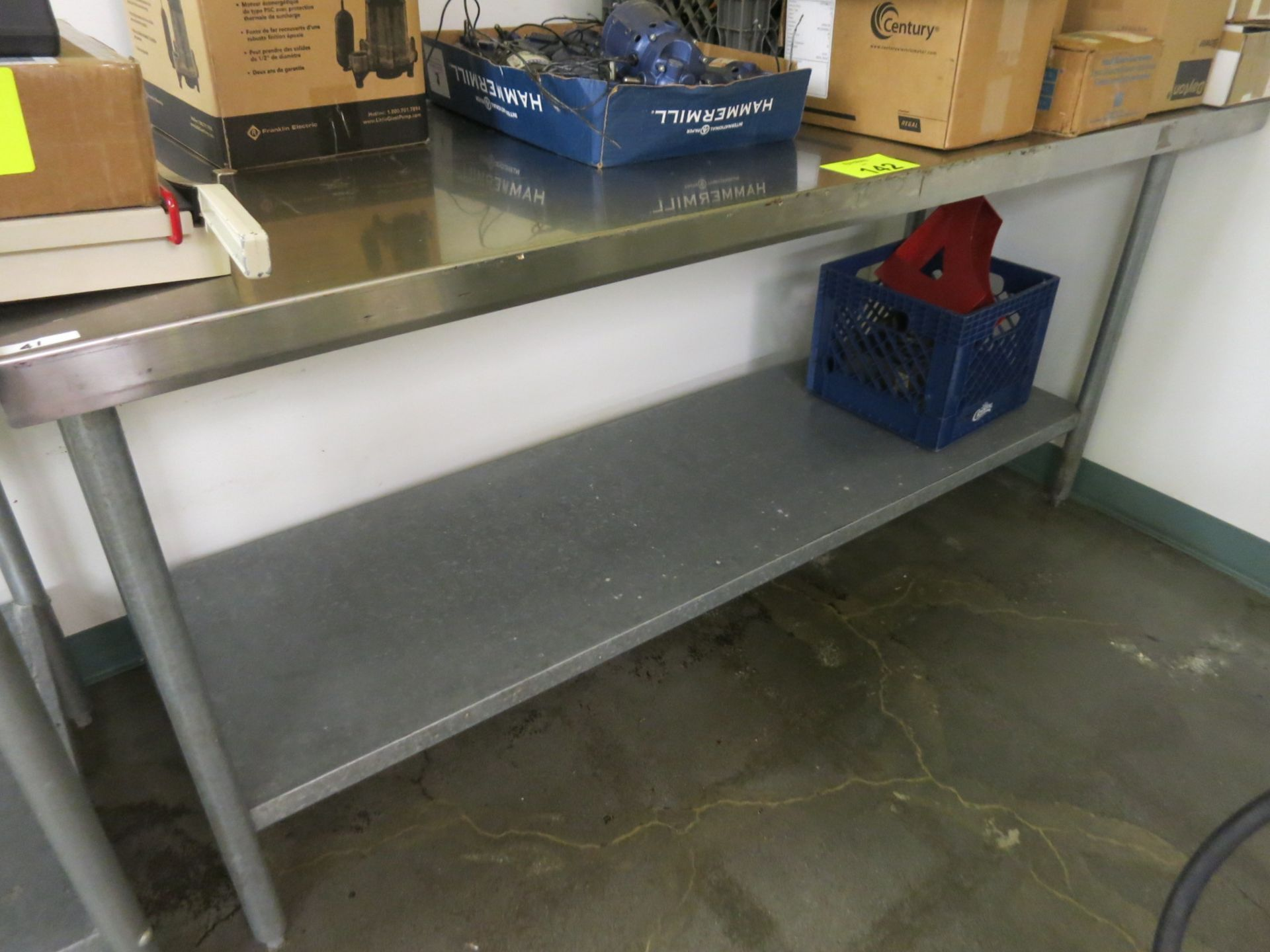 Lot 142 - Stainless Table