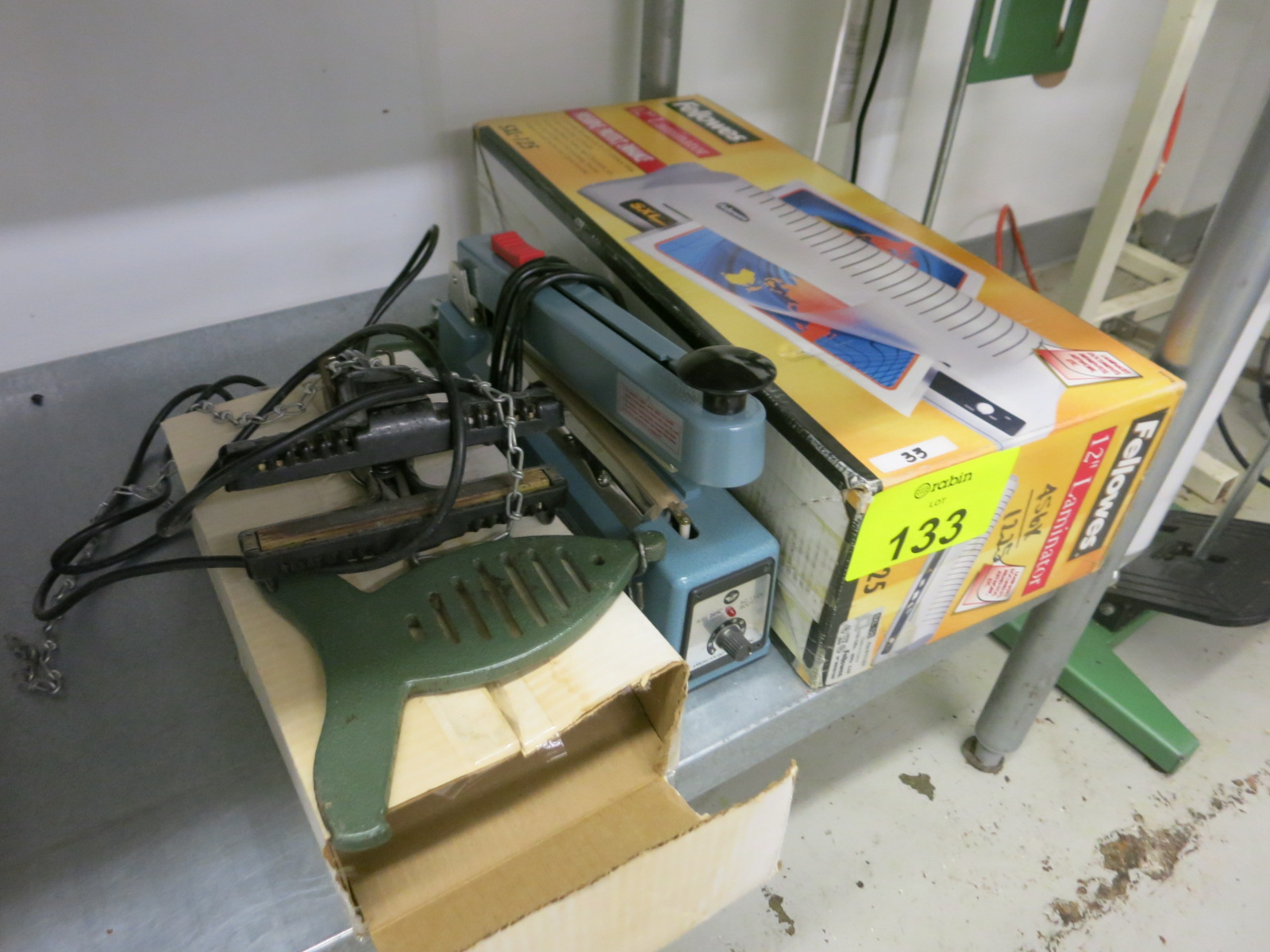Lot 133 - Bar Sealers and Laminator