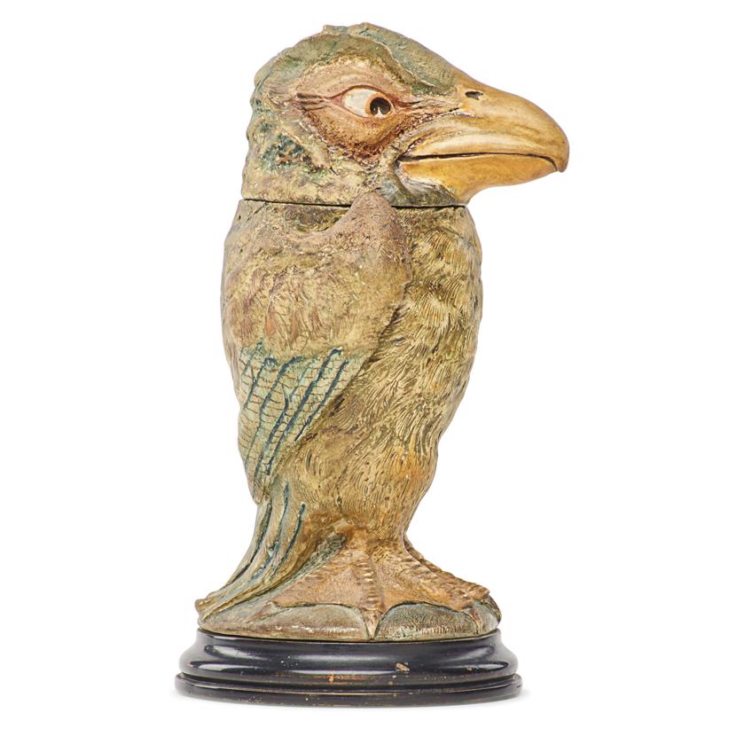 Lot 17 - ROBERT W. MARTIN; MARTIN BROTHERS BIRD TOBACCO JAR