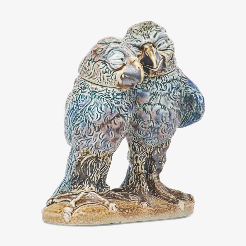 Lot 23 - MARTINWARE DOUBLE BIRD TOBACCO JAR