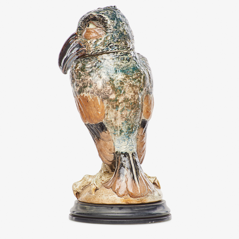 Lot 7 - ROBERT W. MARTIN; MARTIN BROTHERS TALL BIRD TOBACCO JAR