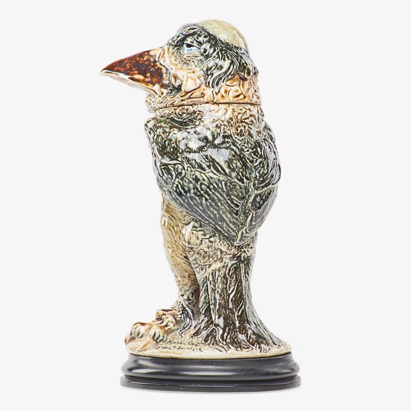 Lot 5 - ROBERT W. MARTIN; MARTIN BROTHERS MONK BIRD TOBACCO JAR