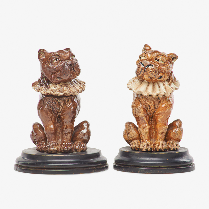 Lot 13 - ROBERT W. MARTIN; MARTIN BROTHERS TWO TOBY DOG TOBACCO JARS