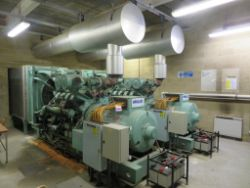 SITE CLOSURE AUCTION INC DORMAN 440KVA GENERATORS, GAS OIL, OFFICE FURNITURE, COMMERCIAL LABORATORY AND KITCHEN EQUIPMENT ETC