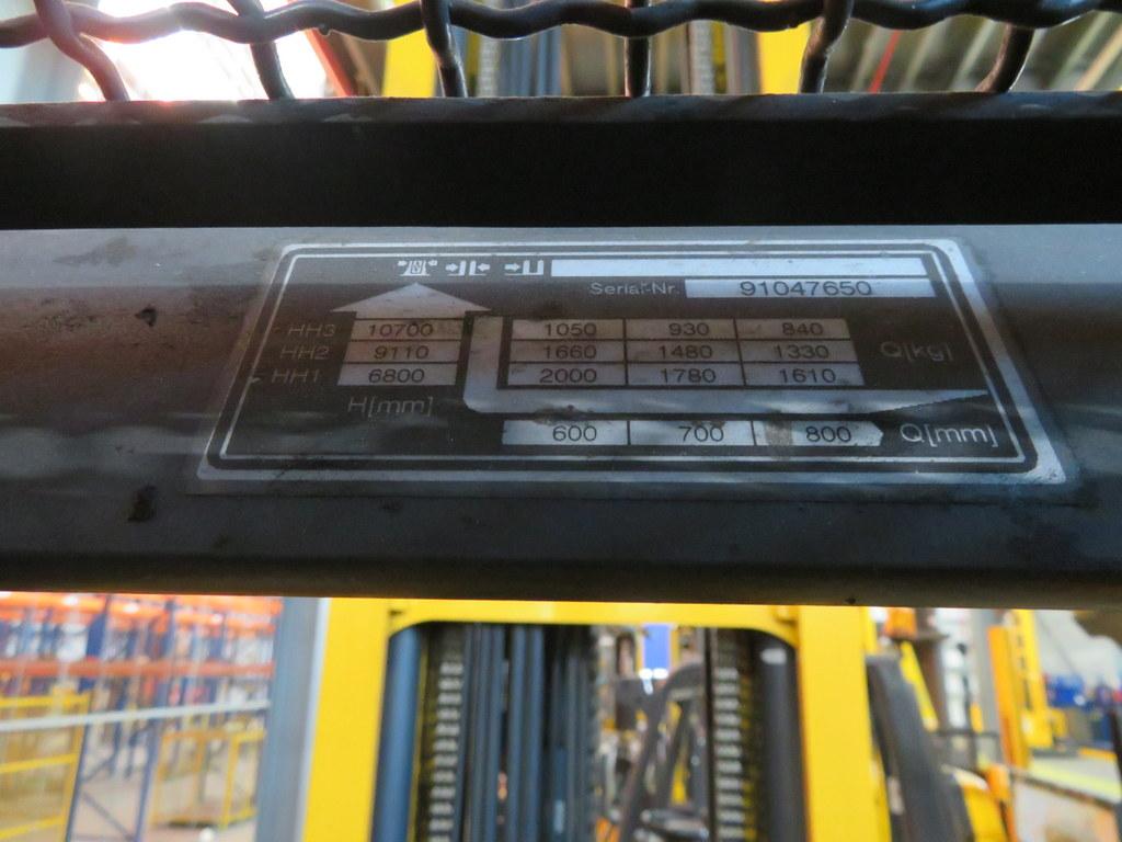 Lot 6 - 2008 JUNGHEINRICH MODEL ETV 320 2000KG ELECTRIC REACH TRUCK