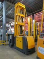 Lot 24 - 2007 JUNGHEINRICH MODEL EKX 515 1500KG ELECTRIC HIGH RACK STACKER TRUCK - NO BATTERY