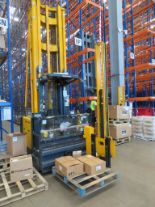 Lot 26 - 2008 JUNGHEINRICH MODEL EKX 515 1500KG ELECTRIC HIGH RACK STACKER TRUCK